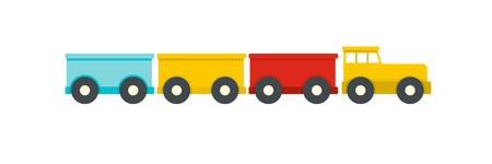 Tourist train icon. Flat illustration of tourist train vector icon for web.
