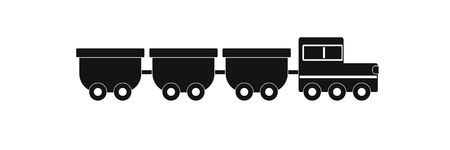 freight wagons icon. Simple illustration of freight wagons vector icon for web.