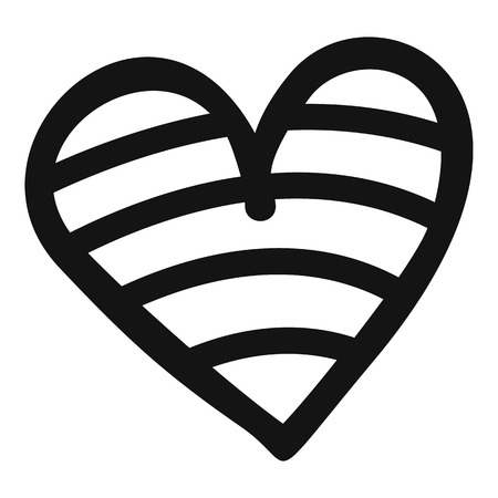 New heart icon. Simple illustration of new heart vector icon for web.