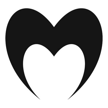 Prophetic heart icon. Simple illustration of prophetic heart vector icon for web. Illustration