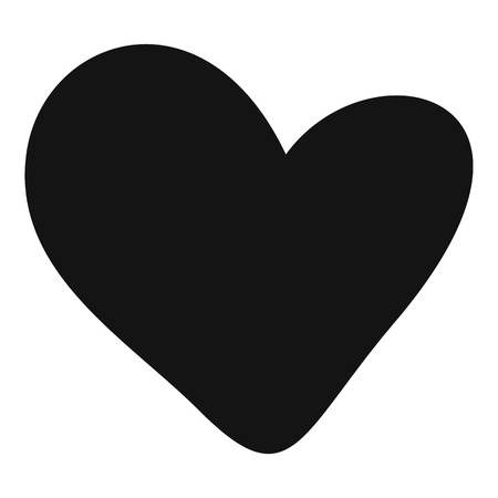 Simple illustration of a heart vector icon