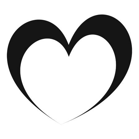 Frantic heart icon. Simple illustration offrantic heart vector icon for web.