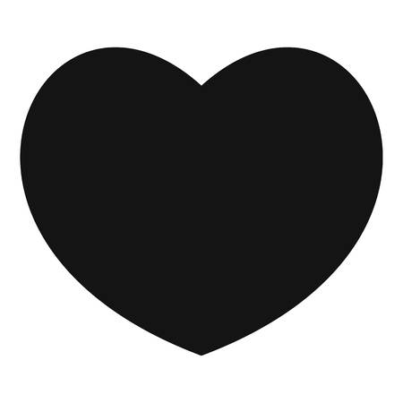 Sympathetic heart icon. Simple illustration of sympathetic heart vector icon for web.