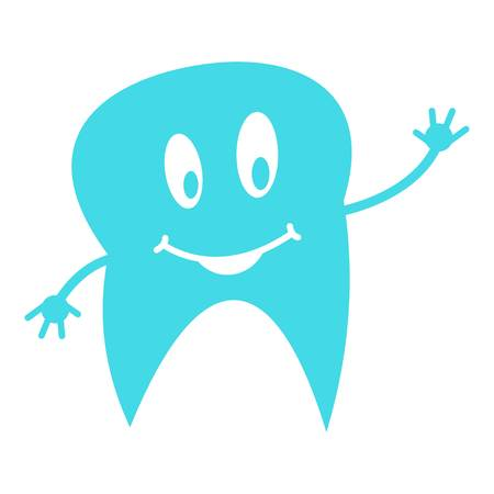 Lower tooth icon. Flat illustration of lower tooth vector icon for web.