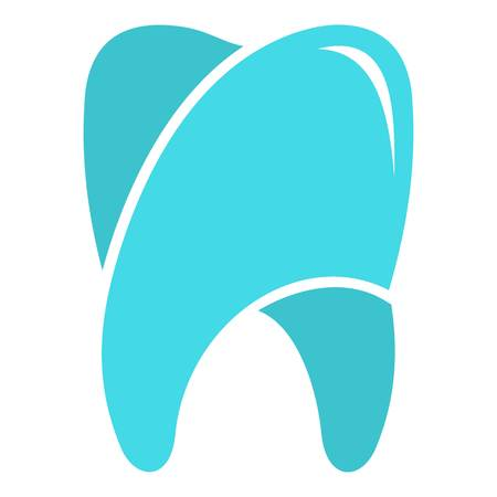 Upper tooth icon. Flat illustration of upper tooth, vector icon for web.