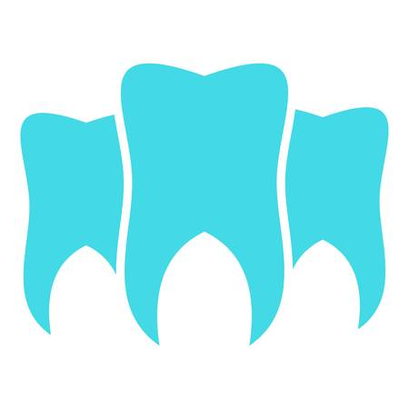 Brittle tooth icon. Flat illustration of brittle tooth vector icon for web.