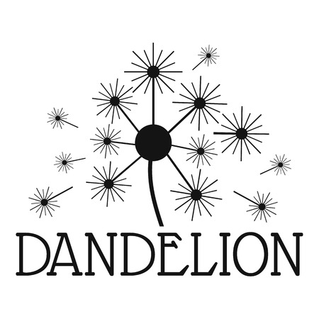 Fluffy dandelion logo icon. Simple illustration of fluffy dandelion vector icon for web.