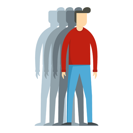 Flat illustration of man vector icon for web