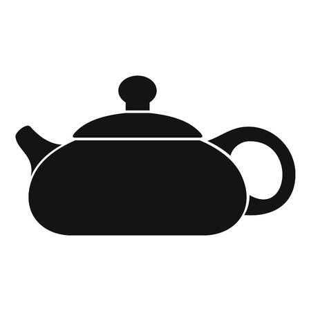 Simple illustration of teapot vector icon for web