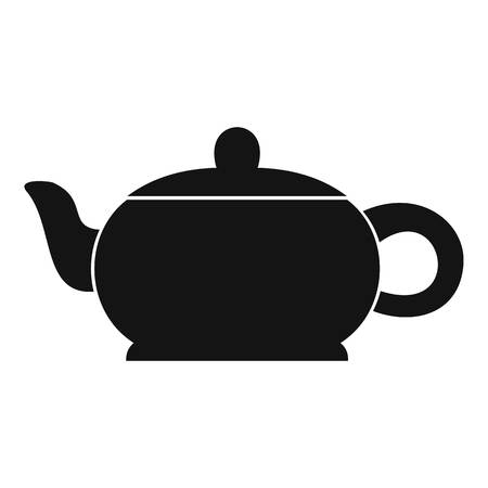 Simple illustration of hot teapot vector icon for web