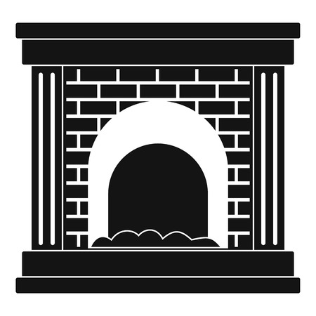 Fireplace for fire icon. Simple illustration of fireplace for fire vector icon for web Illustration