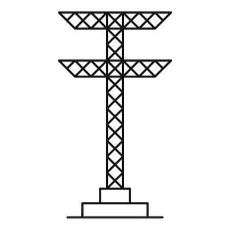 Cone de torre elétrica. Ilustração de contorno do ícone de vetor de torre elétrica para web Foto de archivo - 94477654