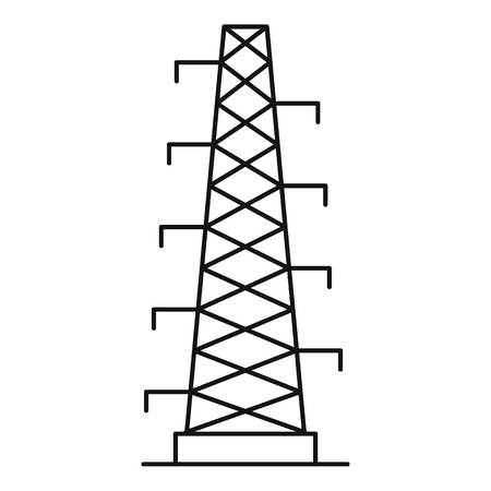 Outline illustration of power station vector icon for web