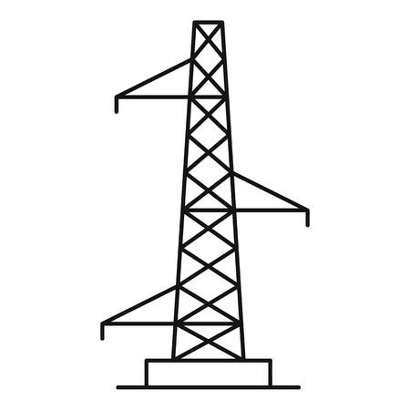 Outline illustration of voltage pole vector icon for web