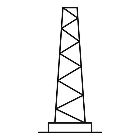 Outline illustration of tall pole vector icon for web Illustration