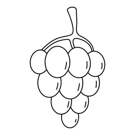 Sultana grape Outline illustration vector icon for web
