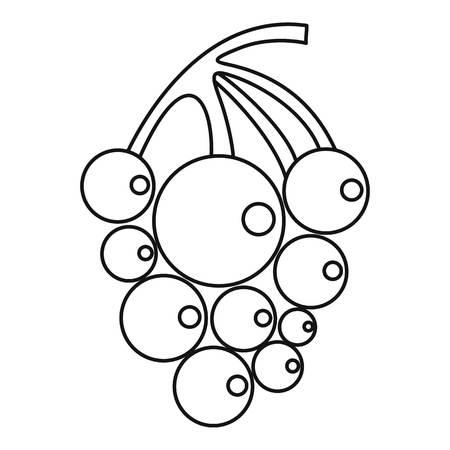 Ripe grape icon. Outline illustration of ripe grape vector icon for web