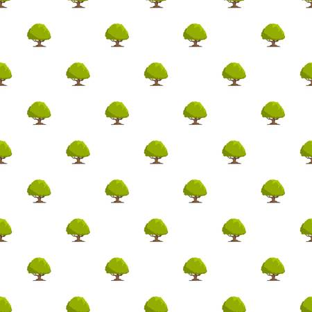 Oak tree pattern seamless in flat style for any design