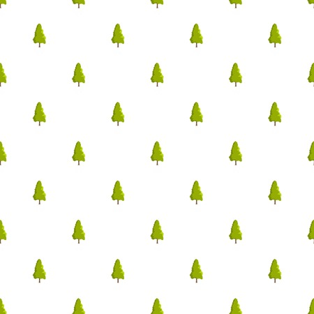 Yew tree pattern seamless in flat style for any design Ilustrace