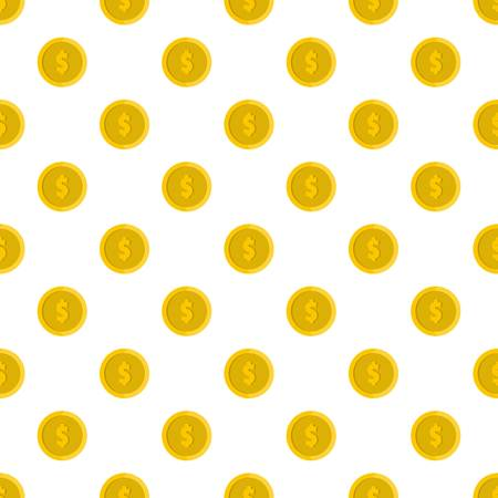 Design coin pattern seamless in flat style for any design