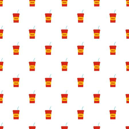Juice pattern seamless in flat style for any design Çizim