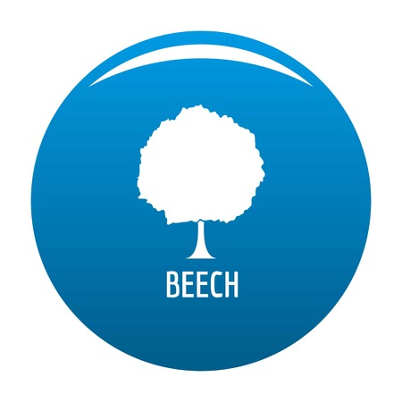 Beech tree icon vector blue circle isolated on white background