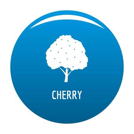 Cherry icon vector blue circle isolated on white background  Ilustração
