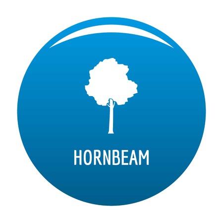 Hornbeam tree icon vector blue circle isolated on white background  向量圖像
