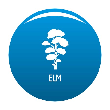 Elm tree icon vector blue circle isolated on white background