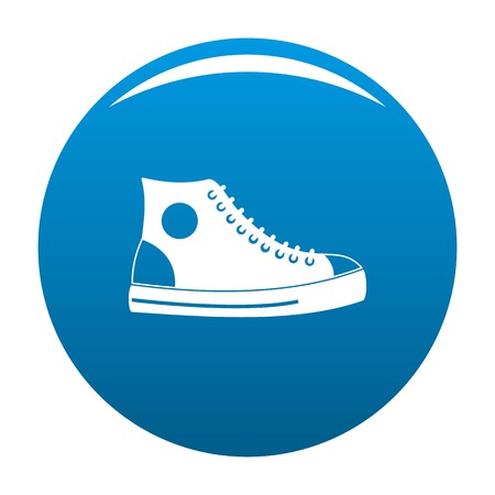 Men shoe icon vector blue circle isolated on white background