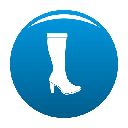 Woman boots icon vector blue circle isolated on white background  Vectores