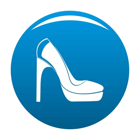 Woman shoes icon vector blue circle isolated on white background