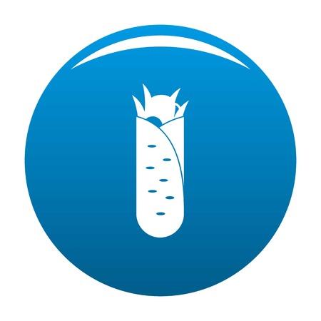 Shawarma icon vector blue circle isolated on white background Illustration