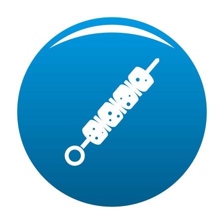 Shish kebab icon vector blue circle isolated on white background Illustration