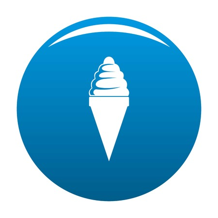 Ice cream icon vector blue circle isolated on white background