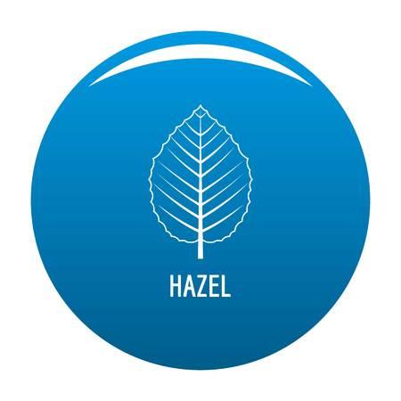 Hazel leaf icon vector blue circle isolated on white background  Stock Illustratie