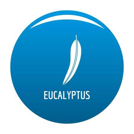 Eucalyptus leaf icon vector blue circle isolated on white background