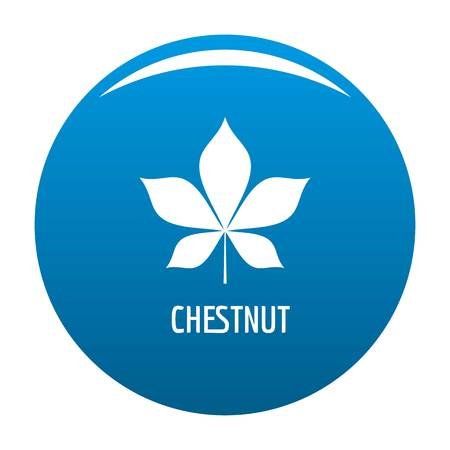 Chestnut leaf icon vector blue circle isolated on white background