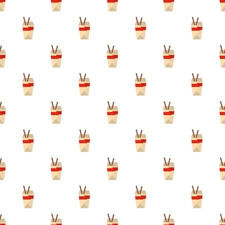 Chinese fast food pattern seamless in flat style for any design