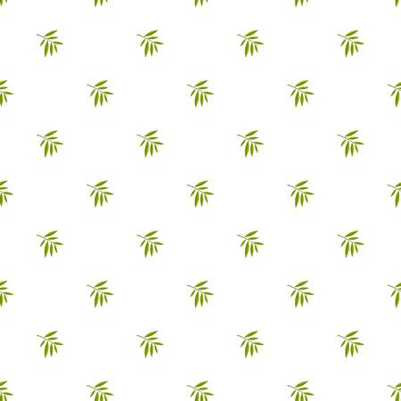 Willow leaf pattern seamless in flat style for any design