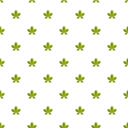 Chestnut leaf pattern seamless in flat style for any design