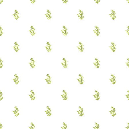 Cypress leaf pattern seamless in flat style for any design Illustration