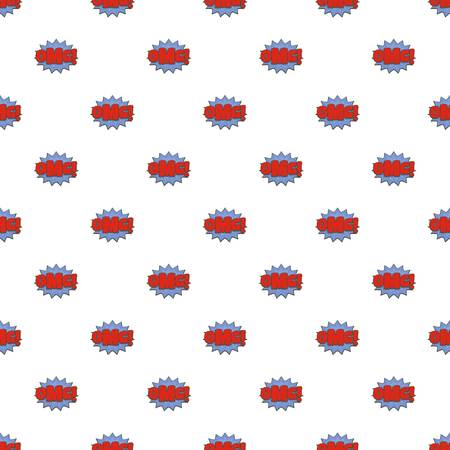 Comic boom omg pattern seamless in flat style for any design.