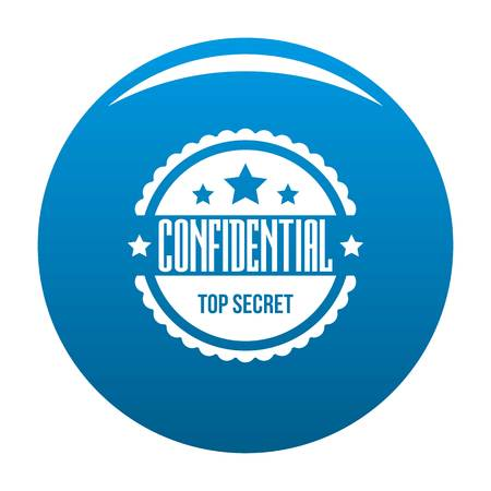 Confidential icon. Simple illustration of confidential vector icon for web. Illustration