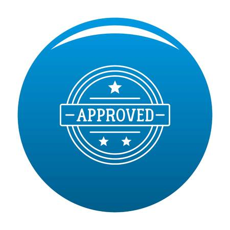 Approved icon. Simple illustration of approved vector icon for web.