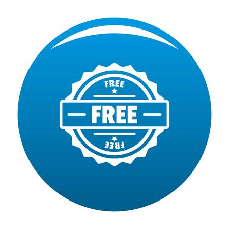 Free icon. Simple illustration of free vector icon for web.