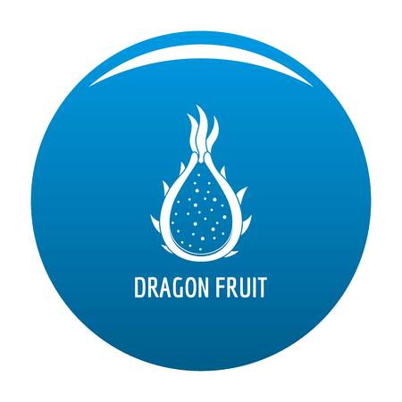 Dragon fruit icon vector blue circle isolated on white background.