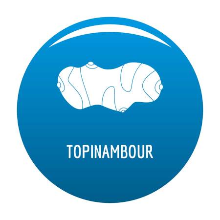 Topinambour icon vector blue circle isolated on white background.