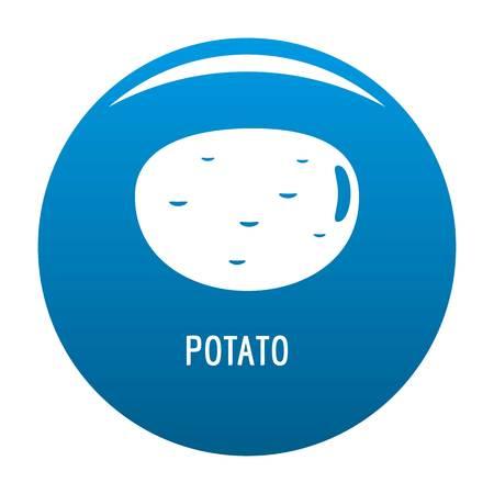 Potato icon vector blue circle isolated on white background.