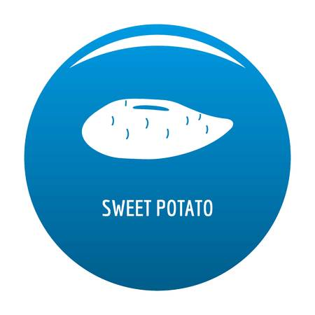 Sweet potato icon vector blue circle isolated on white background.